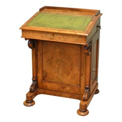Spectacular 19th Century Quality Victorian Figured Walnut Antique Davenport Desk