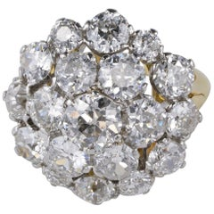 Spectacular 9.05 Carat Diamond Rare Cluster Ring