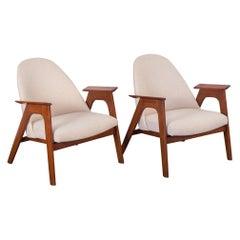 Spectacular American Walnut Armchairs