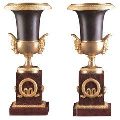 Spectacular and Chic Empire Medici Vases / Cassolettes
