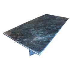 Spectacular and Massive Green Marble Dining Table