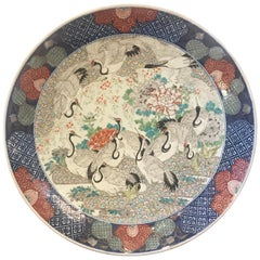 Spectacular Antique Japanese 19th Century Imari Charger