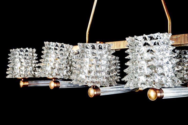 Spectacular Art Deco Murano Glass Chandelier by Ercole Barovier, 1940 For Sale 7