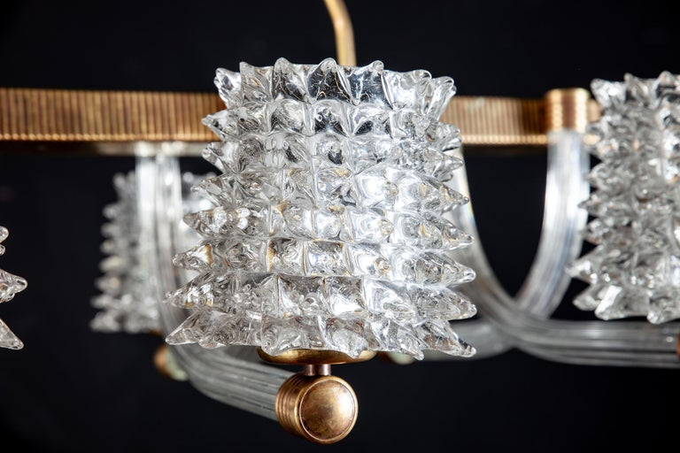 20th Century Spectacular Art Deco Murano Glass Chandelier by Ercole Barovier, 1940 For Sale