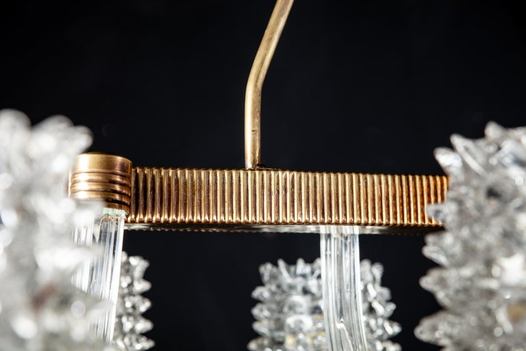 Spectacular Art Deco Murano Glass Chandelier by Ercole Barovier, 1940 For Sale 1