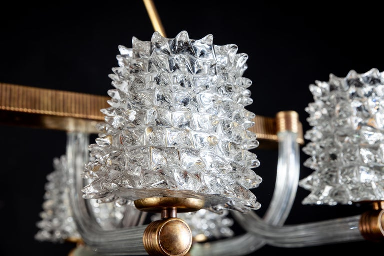 Spectacular Art Deco Murano Glass Chandelier by Ercole Barovier, 1940 For Sale 2