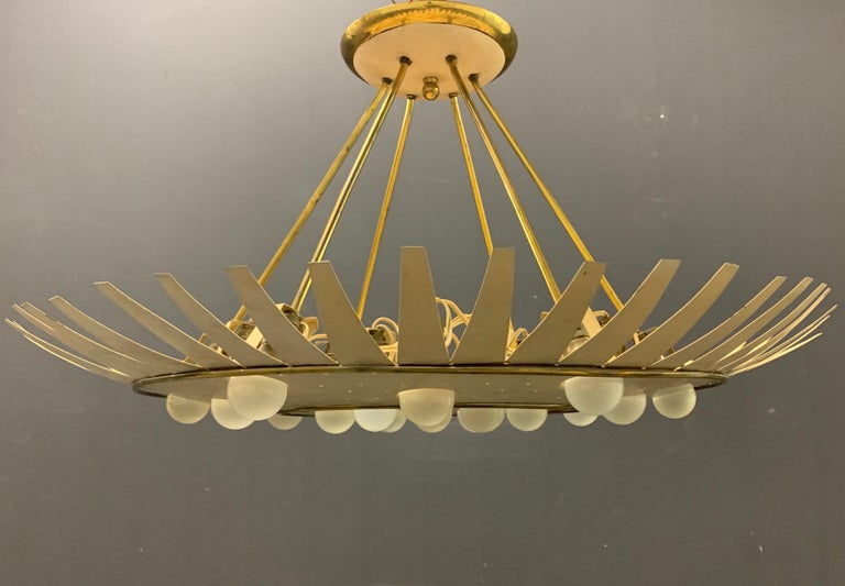 Spectacular Artists Made Ceiling Lamp For Sale 3