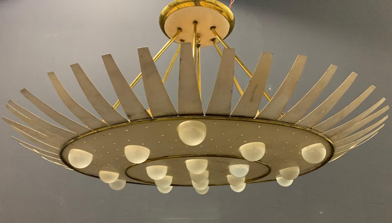 Mid-Century Modern Spectacular Artists Made Ceiling Lamp For Sale