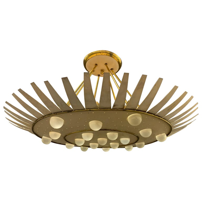 Spectacular Artists Made Ceiling Lamp For Sale