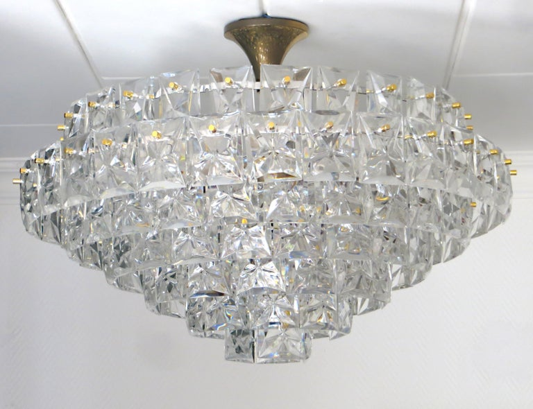 A very representative, luxury , timelessly modern chandelier in a very rare and extraordinary oversize of 30 inches diameter,