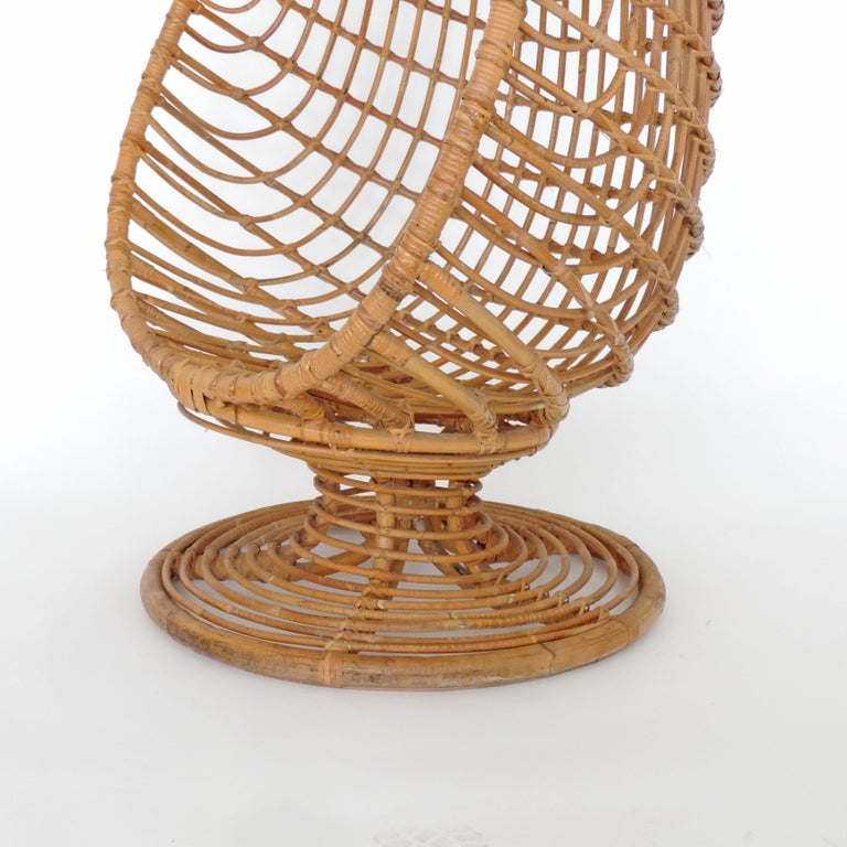 Spectacular bamboo egg chair, Italy, 1960s.