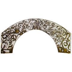 Spectacular Brass Garden Arbor Trellis Arch, Jugenstile Wiener Werkstatte Style