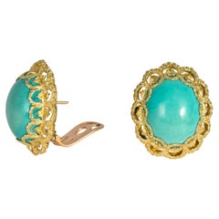 Buccellati Turquoise and Gold Earrings