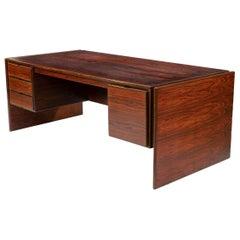 Spectacular Danish Modern Rosewood Executive Desk