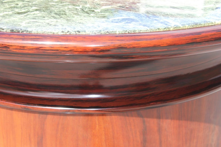 Spectacular French Art Deco Macassar Ebony Semicircle Dry Bar, circa 1940s For Sale 7