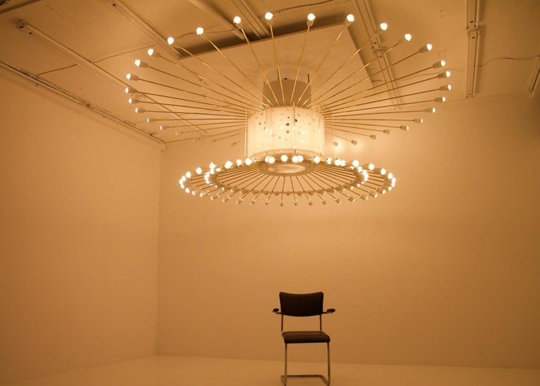 Spectacular Giant Sputnik Ceiling Lamp with 132 Bulbs, 1950s For Sale 2