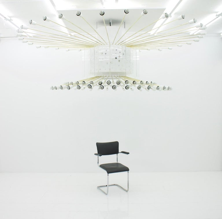 Spectacular Giant Sputnik Ceiling Lamp with 132 Bulbs, 1950s For Sale 4