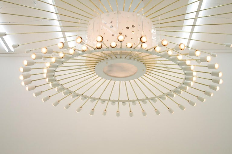 Spectacular Giant Sputnik Ceiling Lamp with 132 Bulbs, 1950s For Sale 12