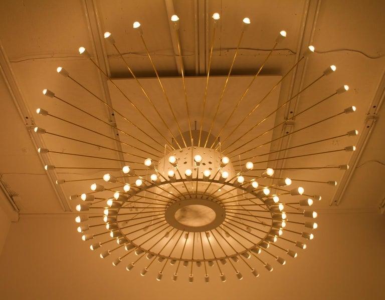 Spectacular Giant Sputnik Ceiling Lamp with 132 Bulbs, 1950s In Good Condition For Sale In Frankfurt / Dreieich, DE