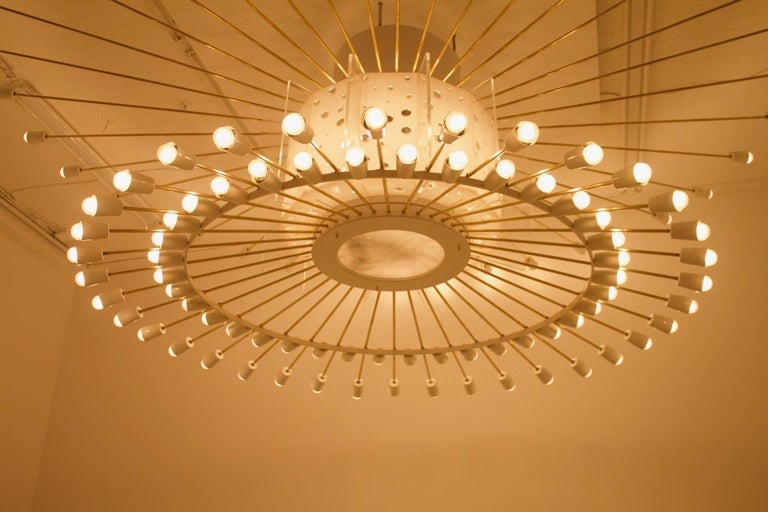 Mid-20th Century Spectacular Giant Sputnik Ceiling Lamp with 132 Bulbs, 1950s For Sale