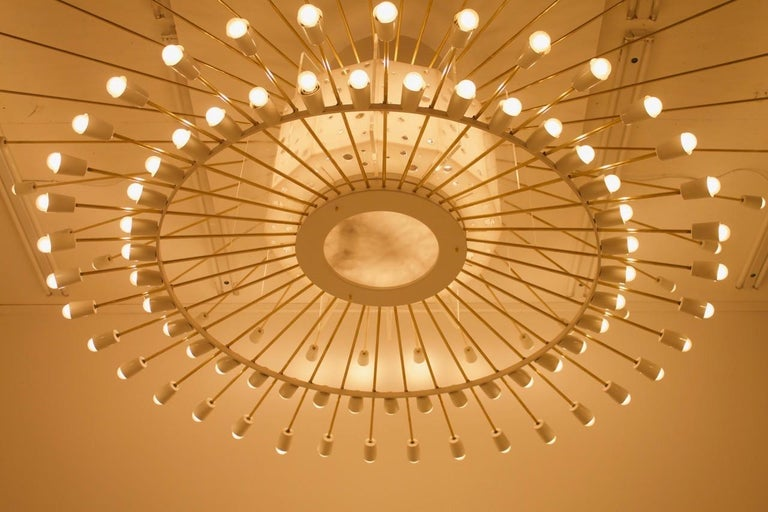 Metal Spectacular Giant Sputnik Ceiling Lamp with 132 Bulbs, 1950s For Sale