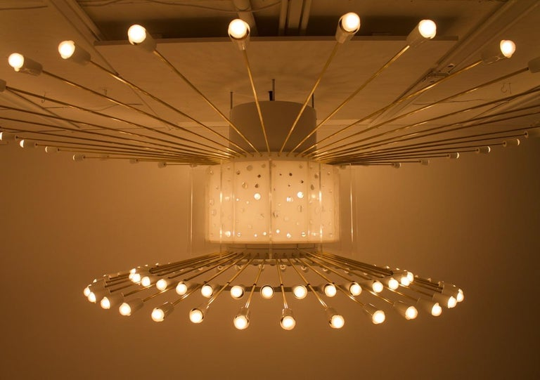 Spectacular Giant Sputnik Ceiling Lamp with 132 Bulbs, 1950s For Sale 1