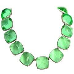 Spectacular Glittering Elegant Baccarat Green Necklace