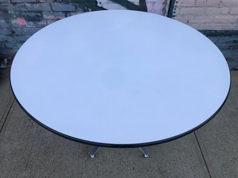 Mid-Century Modern Spectacular Herman Miller Eames Dining Table with Rare Early Base For Sale