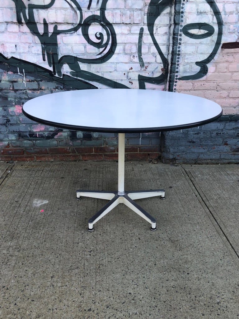 20th Century Spectacular Herman Miller Eames Dining Table with Rare Early Base For Sale