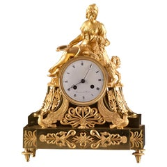 Spectacular High Quality French Empire Clock, Forever Friends