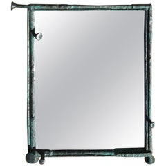 Spectacular Ilana Goor Bronze Sculpted Mirror