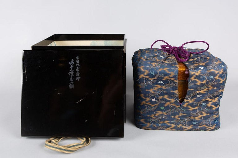 Spectacular Incense Box, Hills and River, Gold and Silver Chrysanthemums For Sale 11