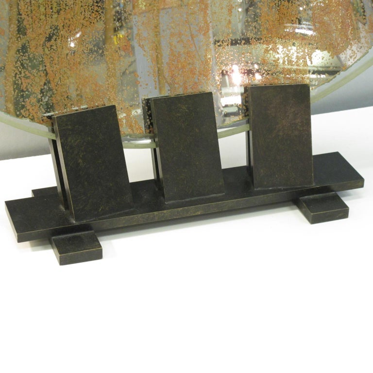 French Spectacular Industrial Lighthouse Mirror Optic Lens Sculpture For Sale