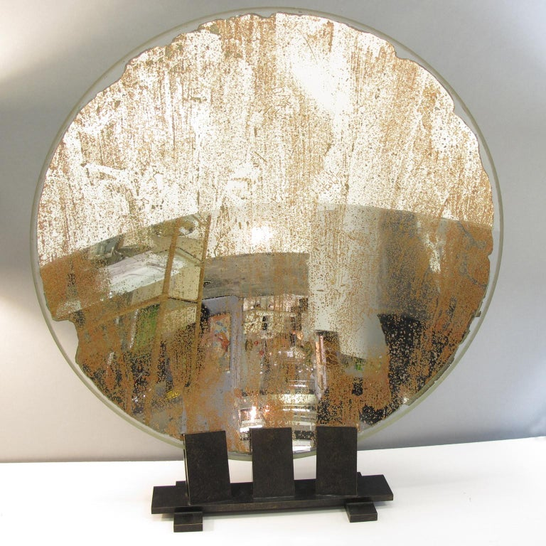 Brass Spectacular Industrial Lighthouse Mirror Optic Lens Sculpture For Sale