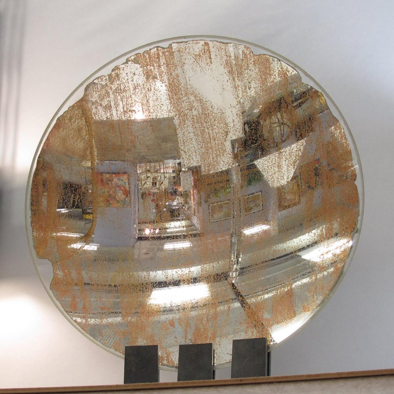 Spectacular Industrial Lighthouse Mirror Optic Lens Sculpture For Sale 1
