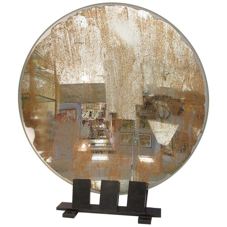Spectacular Industrial Lighthouse Mirror Optic Lens Sculpture For Sale