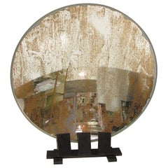 Industrial Lighthouse Mirror Optic Lens Sculpture