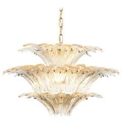 "Spectacular Italian Murano Glass ""Palmette"" Chandelier by Barovier & Toso"