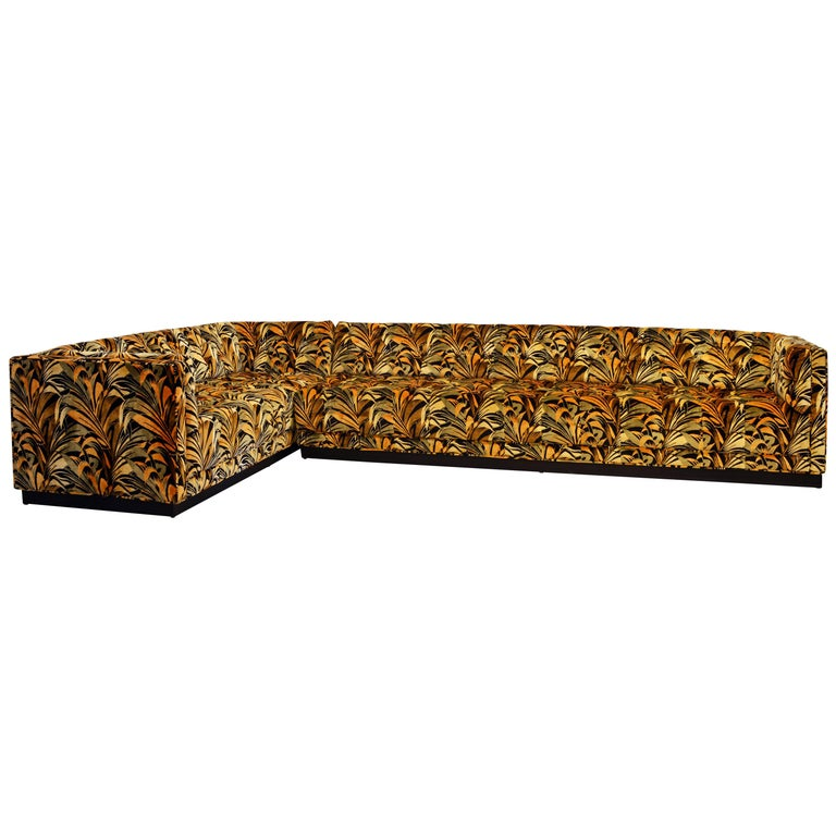 Spectacular Large Mid-Century Modern Sectional Sofa Attributed to Milo Baughman For Sale