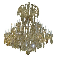 Spectacular Late 19th-Early 20th Century 64-Light Maria Theresa Chandelier