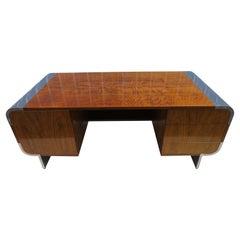 Spectacular Leon Rosen Pace Collection Executive Desk Walnut Chrome Mid-Century
