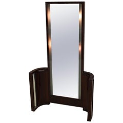 Spectacular Light Up Art Deco Walnut Vanity Circa 1930's