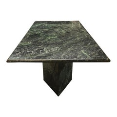 Spectacular Massive Green Marble Modern Dining Table