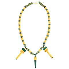 Spectacular Mesoamerican Gold and Jade Necklace