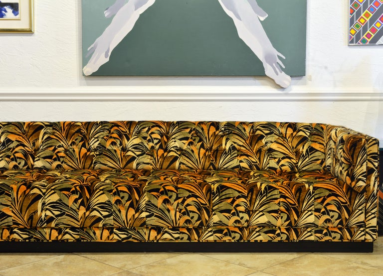 Spectacular Large Mid-Century Modern Sectional Sofa Attributed to Milo Baughman In Good Condition For Sale In Ft. Lauderdale, FL
