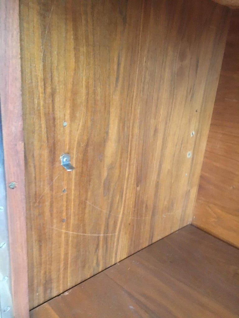Spectacular Midcentury Italian Server, Walnut, Cane, Very Textural, Great Color For Sale 11