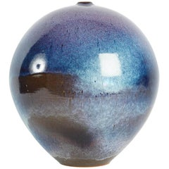 "Spectacular One of a Kind Blue ""Planet"" Vase by Marc Uzan, France, 2003"