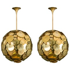 Spectacular Pair of Chandeliers by Galerie Glustin