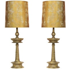 Spectacular Pair of James Mont Lamps