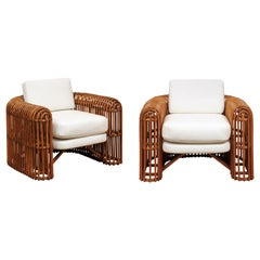 Spectacular Pair of Rib Series Club Chairs by Henry Olko, circa 1980